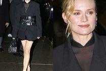 """""""Sexy mama"""" Diane Kruger odsłania nogi w skórzanych szortach"""