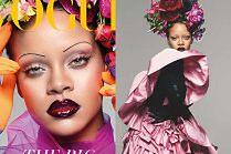 """Rihanna i jej cienkie brwi na wrześniowej okładce """"Vogue'a"""""""