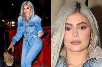 Wystylizowana Kylie Jenner nieudolnie stąpa po kostce brukowej