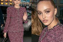 Kobieca Lily-Rose Depp pędzi na promocję zegarków Chanel