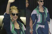 Celine Dion jako modna dresiara na lotnisku w Tajwanie