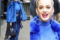 """Katy Perry walczy o uwagę w cekinach, futrze i butach własnego """"projektu"""""""
