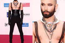 Conchita Wurst eksponuje sutki na rozdaniu nagród filmowych