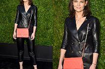 Odpicowana Katie Holmes flirtuje z obiektywami na imprezie Chanel