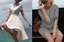 Sukienka marynarska w letnich stylizacjach gwiazd