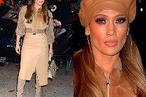 Odpicowana Jennifer Lopez w luksusowej stylizacji odwiedza swoją dzielnicę z dzieciństwa