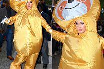 Katy Perry zwiedza Nowy Jork w stroju wielkiego leniwca
