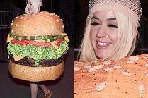 Katy Perry w szampańskim nastroju i przebraniu hamburgera