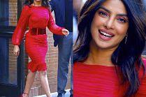 Priyanka Chopra olśniewa w czerwonej sukience od Toma Forda
