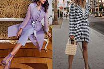 Długi żakiet - narzutka, płaszcz i sukienka w jednym