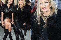 Odmłodzona Kate Moss brata się z Kendall Jenner na pokazie Longchamp