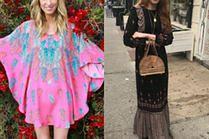 Jakie sukienki hippie noszą gwiazdy?