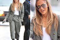 """Młodzieżowa Jennifer Lopez z fryzurą """"na Arianę Grande"""" zmierza na wywiad"""