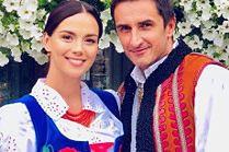 Paulina Krupińska bawi się na weselu w góralskim stroju
