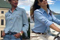 Błękitna koszula nie tylko do biura - z czym ją noszą celebrytki?