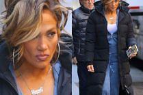 Pomarańczowa Jennifer Lopez postarza się na planie filmu z Cardi B