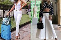 Białe spodnie z wysokim stanem – z czym je nosić?