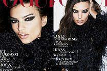 """Groźna Emily Ratajkowski rozchyla wargi na okładce """"Vogue'a"""""""