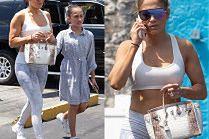 Jennifer Lopez idzie na siłownię z córką i najdroższą torebką świata