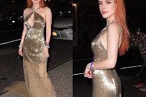 Seksowna Bella Thorne eksponuje podrasowane ciało w złotej sukni