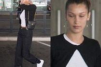 Zaspana Bella Hadid wymachuje torebeczką Chanel