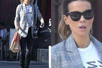 Modna Kate Beckinsale rozchyla usta na widok fotografów