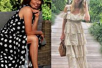 Najmodniejsze długie sukienki letnie w stylizacjach gwiazd