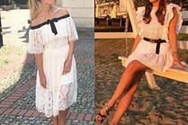 Biała koronkowa sukienka - hit lata