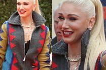Wzorzysta Gwen Stefani próbuje zmarszczyć czoło na premierze filmu dla dzieci