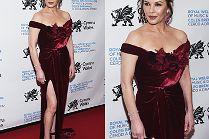 Dojrzała Catherine Zeta-Jones gra nogą na gali w Nowym Jorku