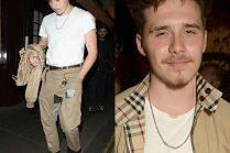 Wystylizowany Brooklyn Beckham bawi się na tygodniu mody