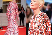 Wenecja 2018: Posągowa Tilda Swinton zachwyca w sukni od Schiaparelli
