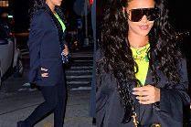 """Rihanna podbija Manhattan w kozakach Balenciagi za 6 tysięcy i okularach """"własnego projektu"""""""