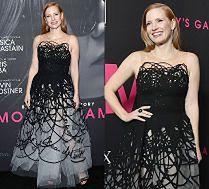 Jessica Chastain w sukni w bazgroły