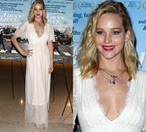 Jennifer Lawrence w sukni ślubnej na premierze