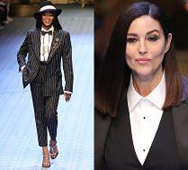 Campbell i Bellucci pozdrawiają z wybiegu Dolce & Gabbana