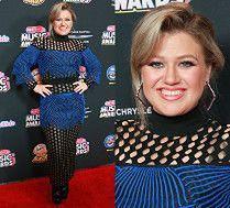 Odchudzona Kelly Clarkson w dziwacznej sukni Balmain