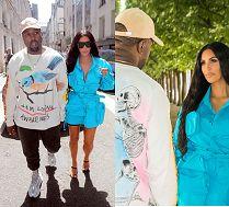 Nierozłączni Kim i Kanye na pokazie mody w Paryżu