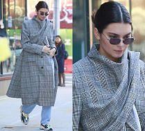 Kendall Jenner w płaszczu za 14 tysięcy