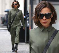 #TRENDY: Victoria Beckham w oliwkowym komplecie