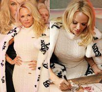 Elegancka Pamela Anderson promuje markę GCDS naciągniętą twarzą
