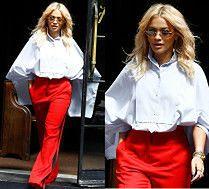 Rita Ora przemierza Nowy Jork w barwach polskiej flagi