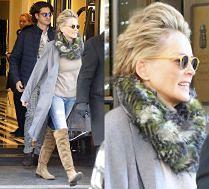Sharon Stone wychodzi z hotelu z młodszym kochankiem
