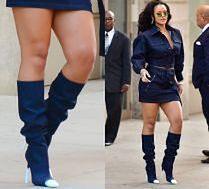 Rihanna chwali się dorodnymi udami w mini