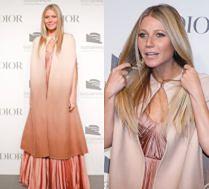 Beżowa Gwyneth Paltrow nawiedza imprezę Diora