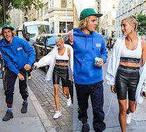 Szczęśliwi Justin Bieber i Hailey Baldwin robią zakupy w Nowym Jorku