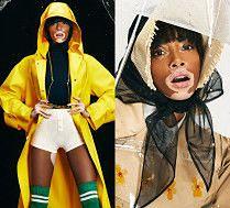 Modelka z bielactwem rozchyla usta w deszczowej sesji dla