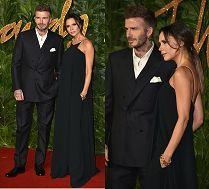 Eleganccy Beckhamowie obnoszą się ze swoją miłością na czerwonym dywanie