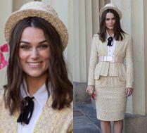Podniecona Keira Knightley odbiera Order Imperium Brytyjskiego w kostiumie Chanel