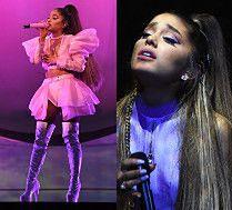 Poruszona Ariana Grande w pięciu stylizacjach na koncercie